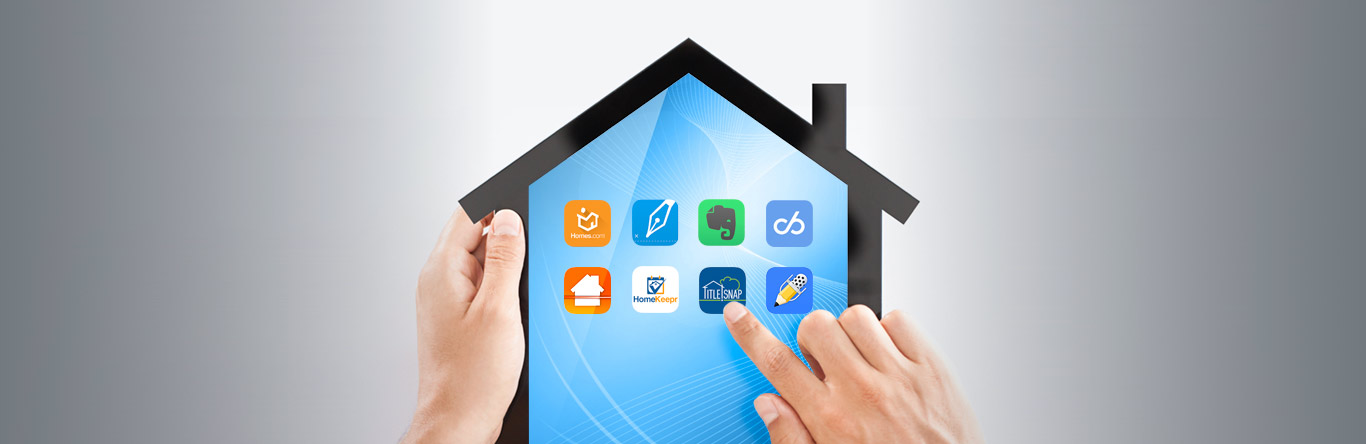 apps displaying on house shaped tablet